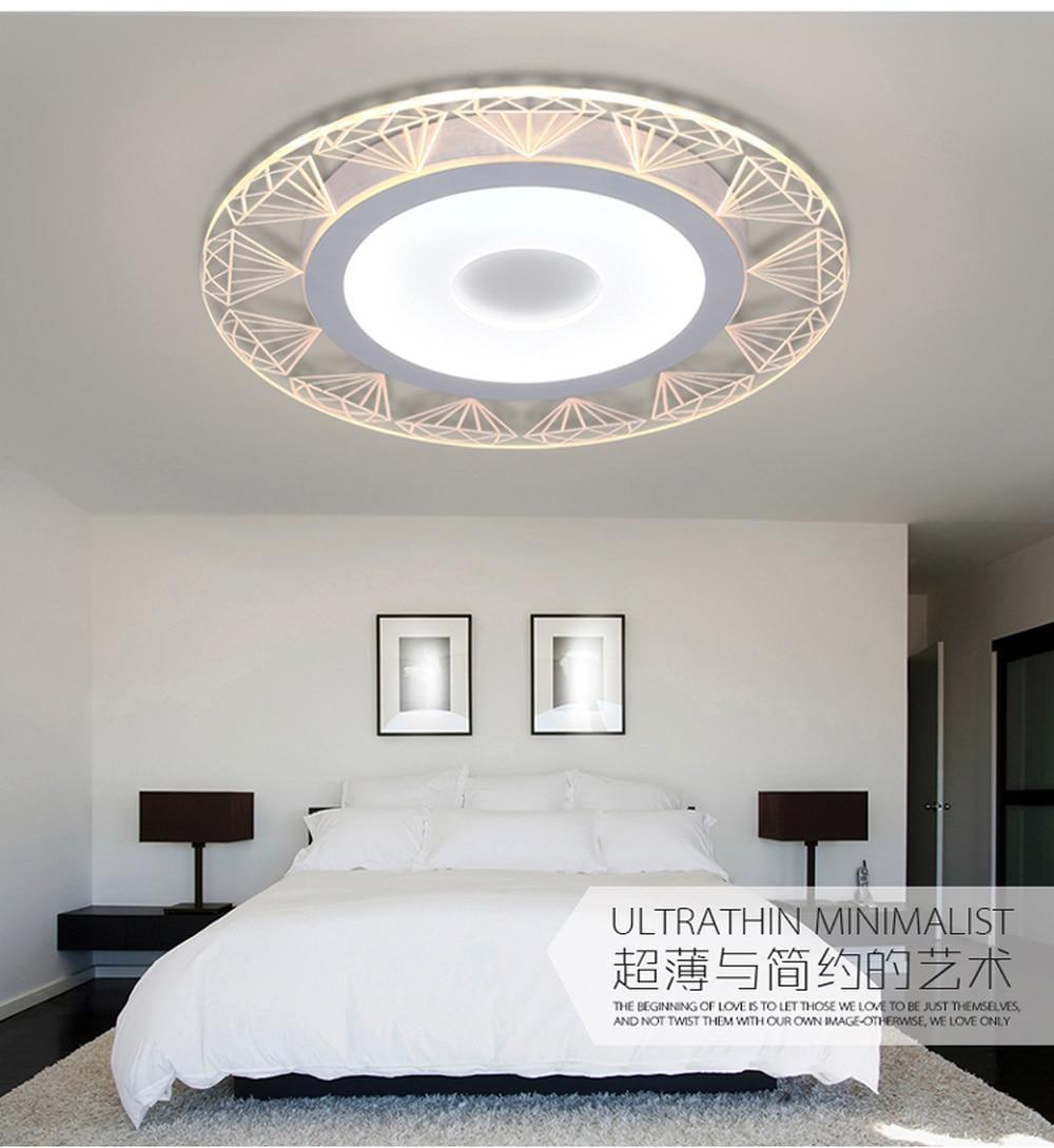 Современная светодиодная потолочная лампа для гостиной, супер тонкая атмосфера, Основная спальня, акриловая круглая потолочная лампа для к