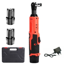 12V Impact Wrench Cordless Electric Ratchet Wrench Rechargeable Lithium-Ion Battery Led Working Light Electric Wrench Power Tool