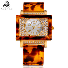 2014 Hot sale square big dial Womens watches new top brand watch gold watch women dress watches geneve watch free shipping