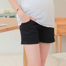 Cotton Low-Waisted Maternity Shorts