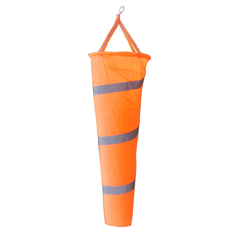New Arrival Airport Aviation Windsock Outdoor Wind Sock Bag with Reflective Belt Grommet 80cm enhanced windsock wind vane double frame skeleton