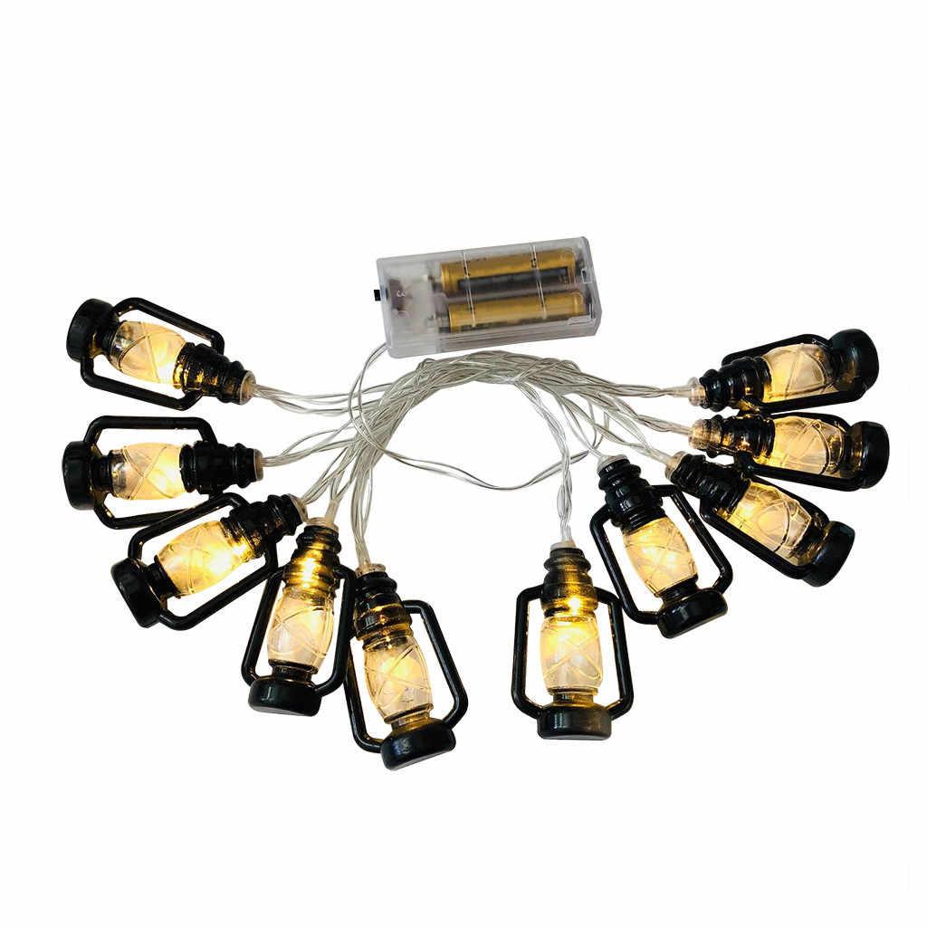2019 популярные новые продукты светодиодный Рамадан фестиваль в стиле ретро, керосиновая лампа шнуры с лампами декоративные аксессуары для фонарей Рамадан украшения дома