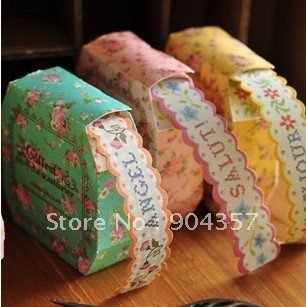 Washi Masking Tape Paper decoration Flowers stickers Stationery Colorful Sticky Box Japanese style