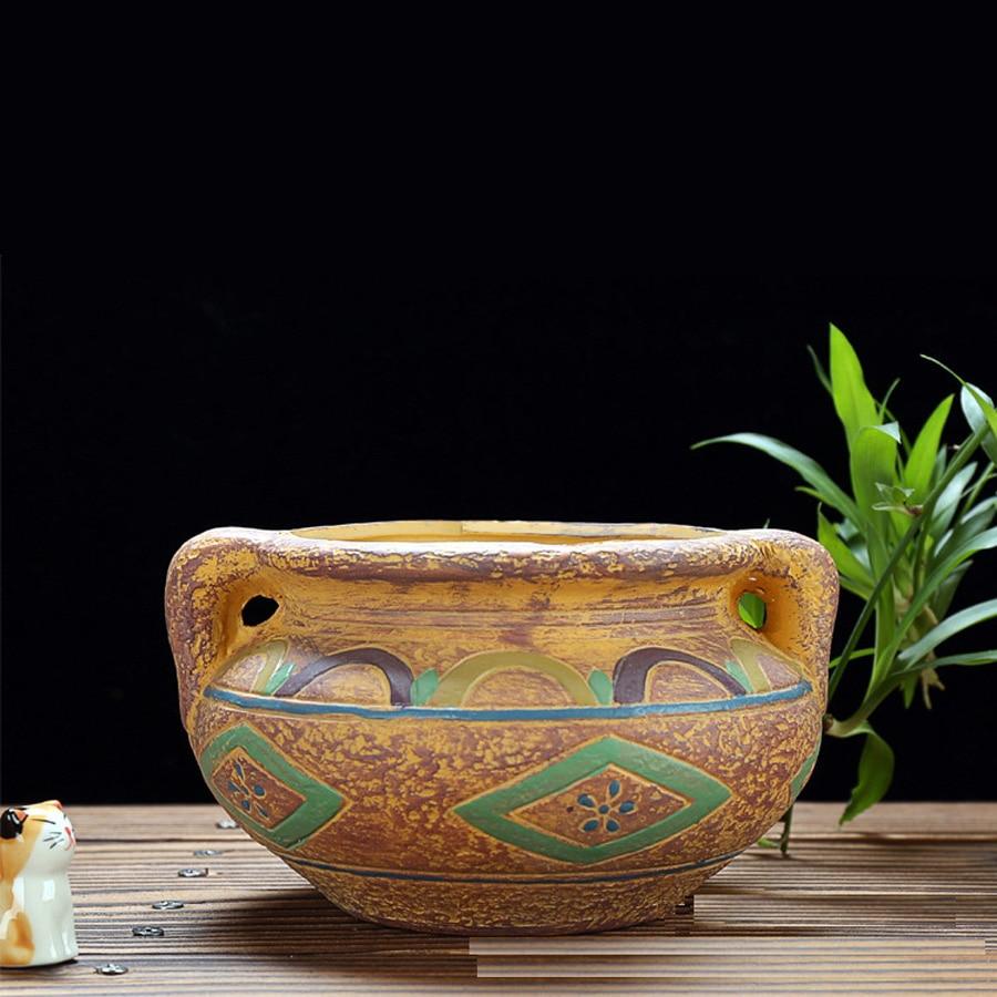 beautiful pattern ceramic bonsai pot planter plant flower ...