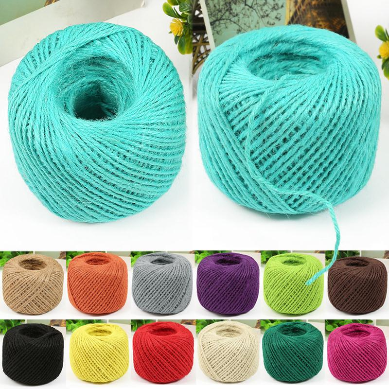 50 meters jute twine diy diy 1 ply natural sisal for Sisal decoration