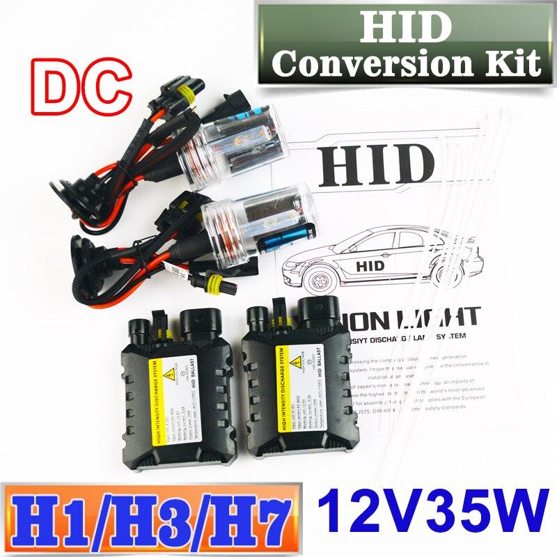 Flytop XENON DC HID Conversion Kit 12 v 35 w H1 H3 H7 Lampe Mince Ballast Phare De Voiture Ampoule 4300 k 6000 k 8000 k 30000 k LIVRAISON GRATUITE