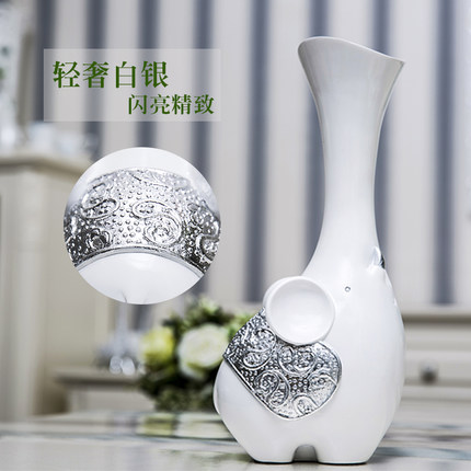 Creative Elephant Vase With Artificial Flower Home Decoration Crafts