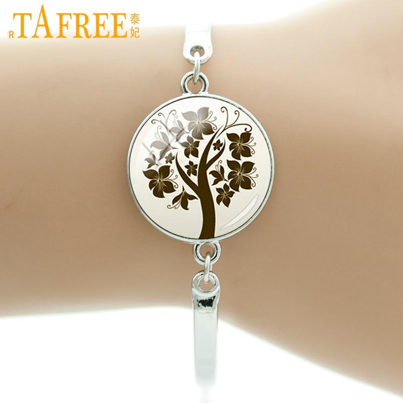 TAFREE Brand autumn charms Tree <font><b>of</b></font> <font><b>Life</b></font> bracelet new fashion women jewelry high quality exquisite <font><b>wonderful</b></font> gifts for girls B767
