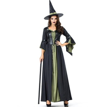 Deluxe Women Witch Cosplay Halloween Costume For Adult Party Performance Clothing