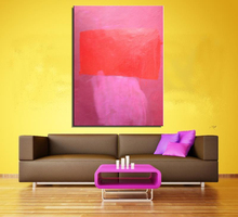 Mark Rothko Abstract oil Painting Drawing art picture Unframed Canvas wall pink and red canvas painting for home decor