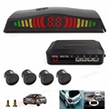 Hotsale Black 4 Paking Sensor Kit Led Digital Veichle Reversing Alarm System With Car Cigarette Lighter Car-styling