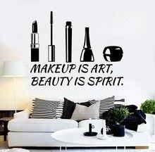 Vinil duvar çıkartması güzellik salonu teklif kozmetik makyaj çıkartmalar duvar çıkartmaları duvar güzellik salonu pencere referans dekorasyon 2MY3