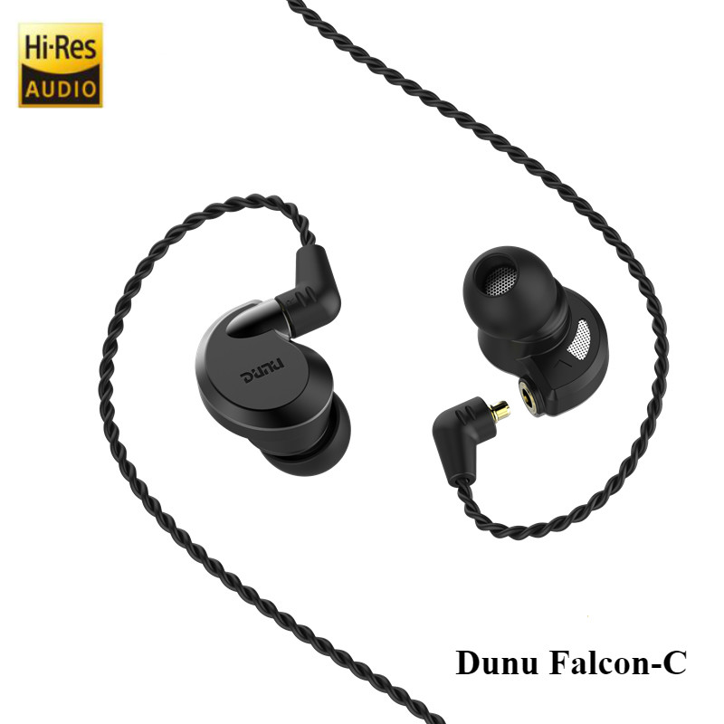 Dunu Falcon-C Hi-Res Audio Earphone Dynamic IEM-CNT(Carbon nanotubes) Diaphragm Earbud Hi fi Stereo in ear Headset Replace Cable lz semkarch skc cnt1 in ear earphone 10mm carbon nanotube cnt diaphragm high dynamic hifi earphone headset with mmcx cable