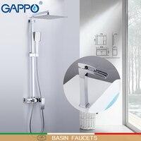 GAPPO Смесители бассейна душ краны на бортике бассейна Раковина кран для ванной смеситель chrome латунь настенный душ комплекты