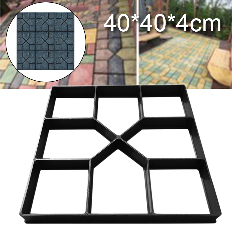 40*40*5cm Garden Pavement Mold Walk Pavement Concrete Mould DIY Paving Cement Brick Stone Road Concrete Molds Path Maker