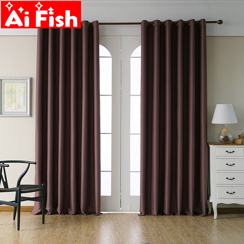 Blackout Curtain For Living Room Solid Color Gray Kitchen Curtain Tulle Sheer Fabrics Drapes Light Green Shade Treatment WP092-4