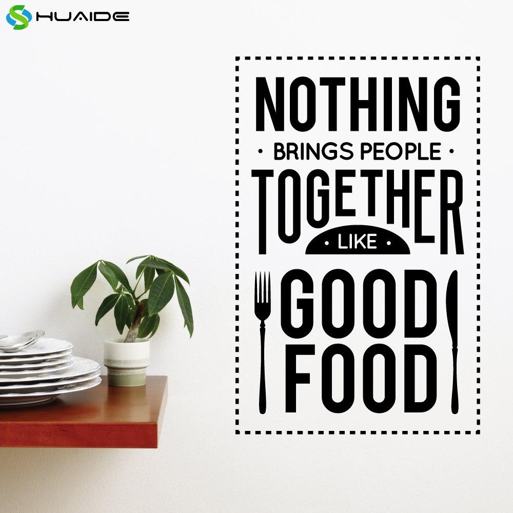 Nichts Bringt Menschen Zusammen Wie Lebensmittel Wandtattoo Abnehmbare Vinyl Wandaufkleber Fr Kche Fliesen Wandkunst Wand KART