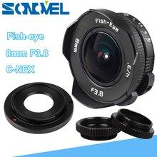 8 มม.F3.8 Fish Eye กล้องวงจรปิดเลนส์มุมกว้าง Fisheye เลนส์ความยาวโฟกัสเลนส์ชุดสำหรับ SONY E Mount A7R A7S A6300 A6500