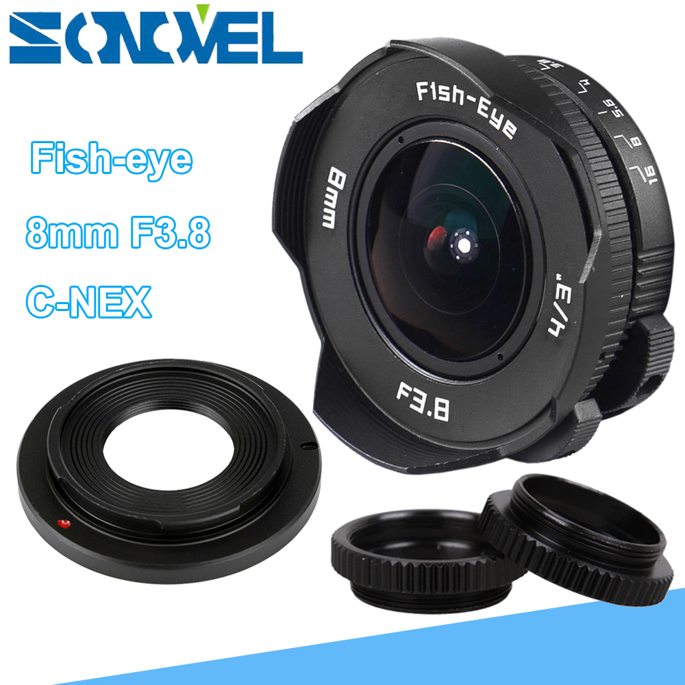 8mm F3.8 Fish-eye CCTV Lens Manual Wide Angle Fisheye Lens Focal length Fish eye Lens Suit For Sony E Mount A7R A7S A6300 A6500 стоимость