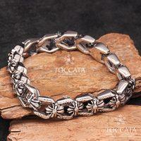 Vintage Joist Cross Flower Bracelet For Men Stainless Steel Bracelet Buckle Bracelet Fashion Personality