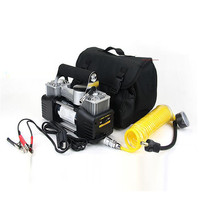 Car Air Compressor/Tyre Inflator Dual Cylinder 12V Air Compressor Pump Car Tyre Tire Inflator 150PSI New dropship j18