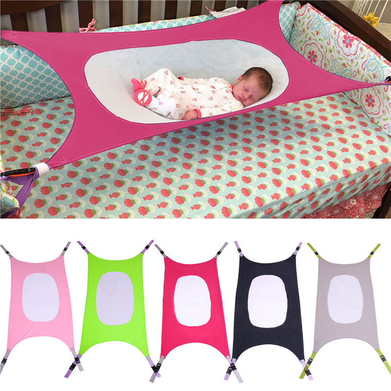 Infants Hammock Cartoon Printed Baby Detachable Protable Folding Crib Cotton Newborn Sleeping Bed Outdoor Garden Swing