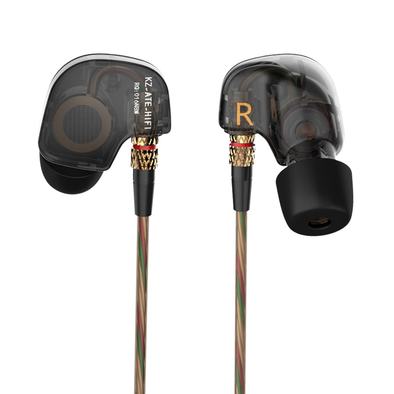 New Original KZ ATE In Ear Earphones  Stereo Sport Earphone Super HIFI Bass Noise Isolating With Microphone