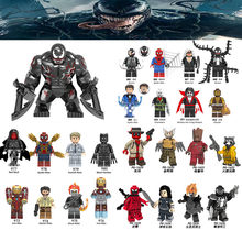 Mini Diy DC Marveled Anime Super Hero Character Action Venom Black Dwarf Hulk Figures Legoingly Toys For Children Birthday Gifts(China)