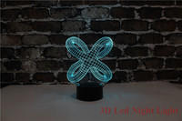 3D Automatic Led Night Light Abstract Pattern Holiday Gift 7 Colors And Changeable Creative Saving Children