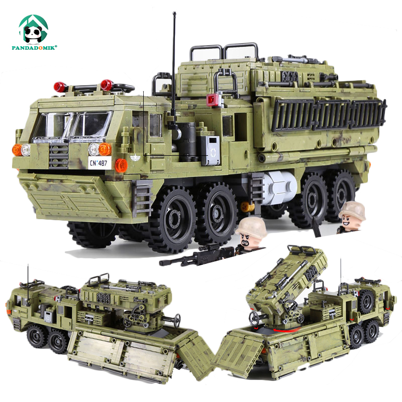Super Large 1377pcs Military Truck Building Bricks Set 5 Figures Weapons Toy Blocks Army War Toys for Boys Designer Constructor loz diamond blocks assembly display case plastic large display box table for figures nano pixels micro blocks bricks toy 9940