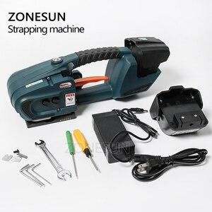 Image 5 - ZONESUN מכונת 13mm 16mm PET/ PP פלסטיק רצועות סוללה מופעל 4.0A/12V ג וינט גלישת מכונת עם 2 סוללות