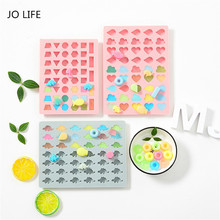 JO LIFE Cartoon Funny Silicone Gummy Molds Candy Chocolate Geometry Clouds Fish Dinosaur Ice Cube Moulds