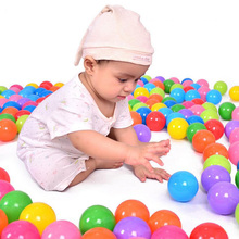 5.5cm 100pcs/lot Eco-Friendly Colorful Soft Plastic Water Pool Ocean Wave Ball Baby Funny Toy Stress Air Ball Outdoor Fun Sports недорого