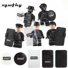 1pcs Military Swat Weapon Building Blocks Guns Pack City Police Soldier Builder Series WW2 Army Accessories MOC Brick Toys JM250 philips hp8679 00