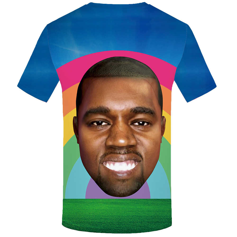 Футболка мужская KYKU, летняя футболка с цветным 3D-принтом долларов, одежда в стиле хип-хоп