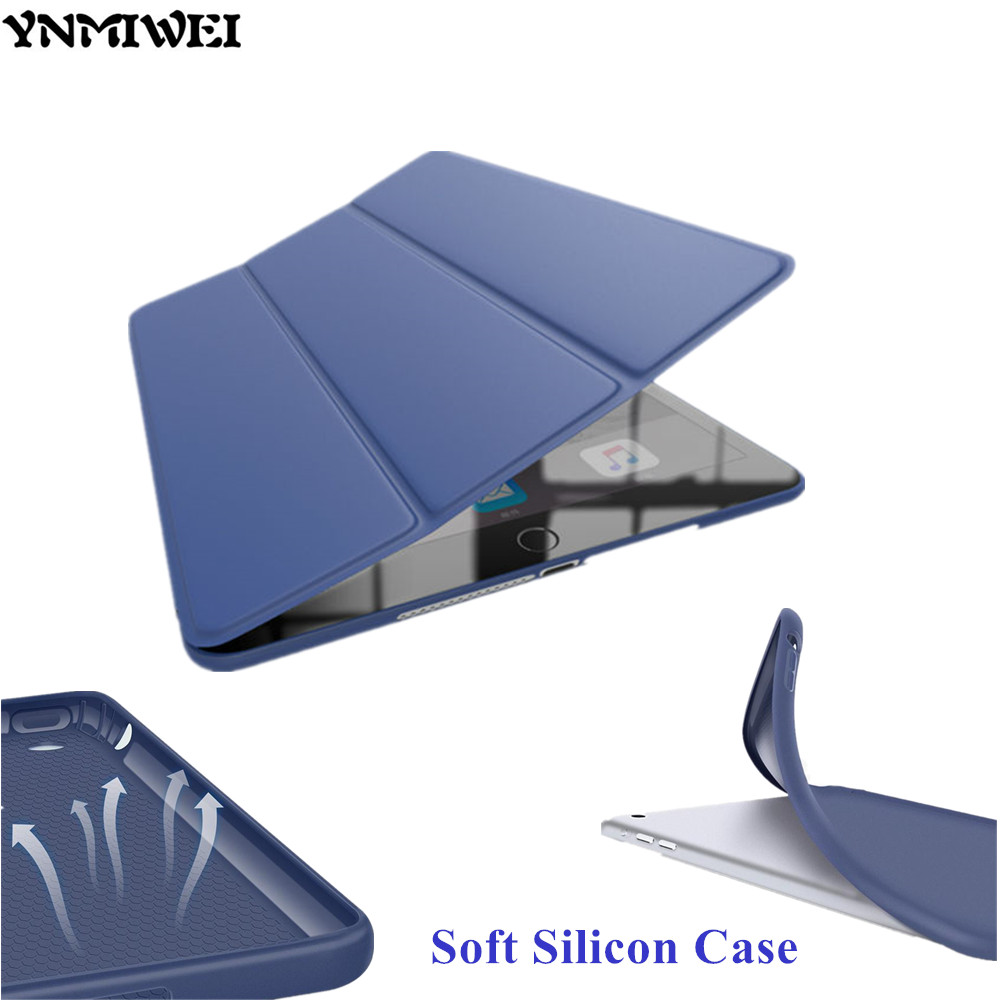YNMIWEI Leather Case For iPad Air Ultra Thin Slim Smart Cover Case For iPad Air iPad5 9.7 inch Soft Silicon Cases +protector 10pc lot dhl free new arrival official original fashion smart case for apple ipad air ipad5 ultra thin filp cover case