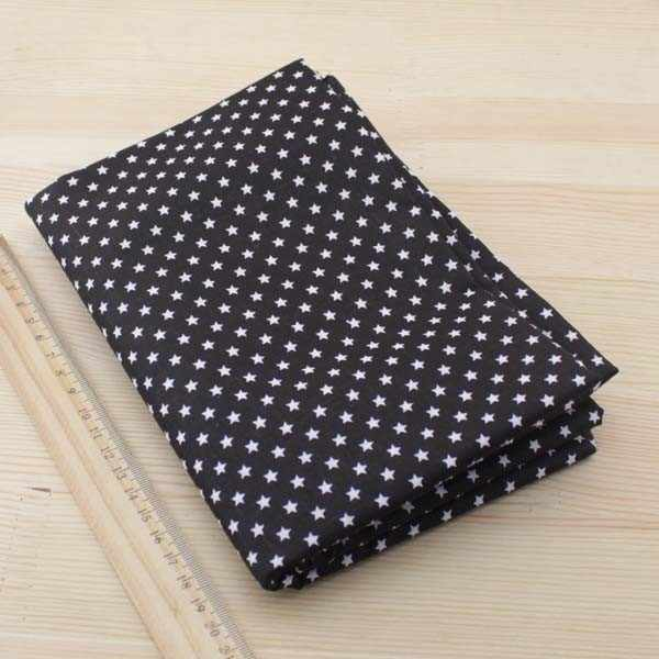 7pcs 50cmx50cm Black Cotton Fabric for DIY Sewing craft Tilda Doll Textiles tissue tecido,tulle,tecidos,tela,telas patchwork