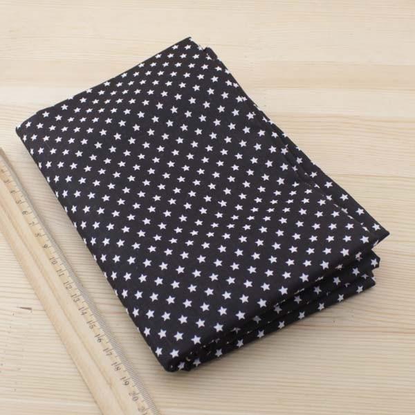 Kain katun Booksew 7 pcs 50 cm x 50 cm Hitam jaringan Tekstil untuk - Seni, kerajinan dan menjahit - Foto 4