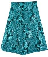 Última tela de encaje del cordón Africano Suizo de la gasa tela de encaje francés para el vestido de boda de moda de alta calidad R9191