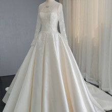 saf sid Vestido Novia Long Sleeves A-line Wedding Dress