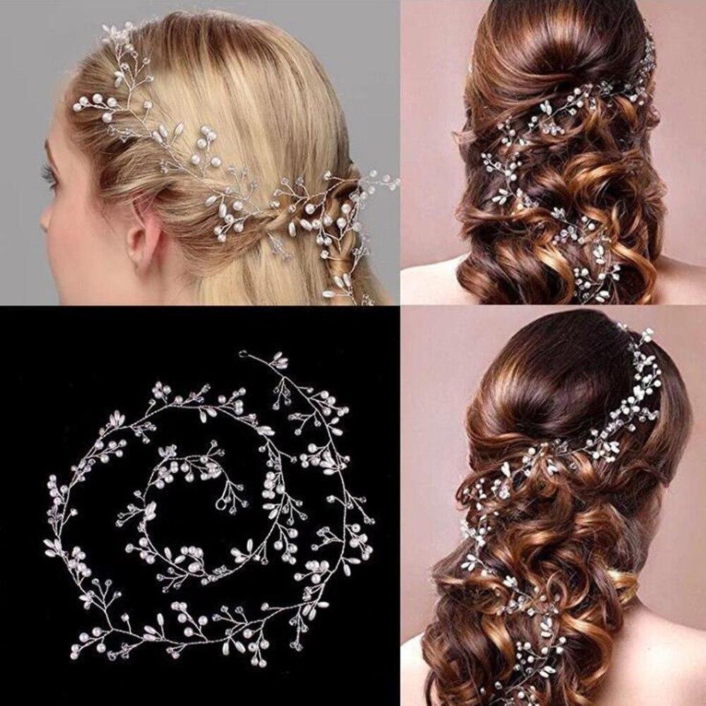 us $1.19 42% off|luxury crystal wedding hair accessories headband simulated pearl bridal tiara hairbands crown headpiece bride hair jewelry-in hair