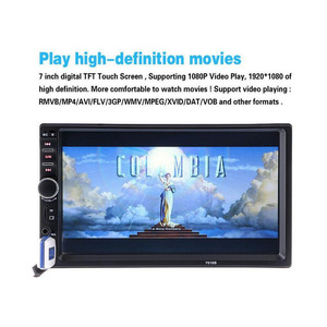 Image 2 - 7 Inch Car MP4 MP5 Players Bluetooth Central MultimediaTouch Screen With Night Vision Rear View Camera Auto Radio Video Player