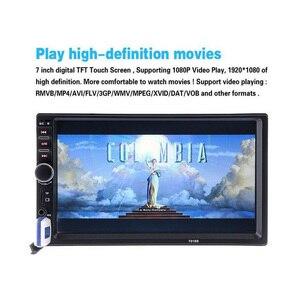 Image 2 - 7 インチ車 MP4 MP5 プレーヤー bluetooth 中央 multimediatouch 画面ナイトビジョンリアビューカメラの自動ラジオビデオプレーヤー