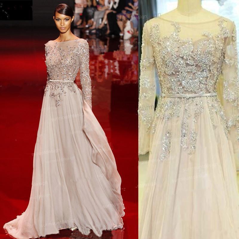 Elie Saab Long Sleeve Evening Dresses