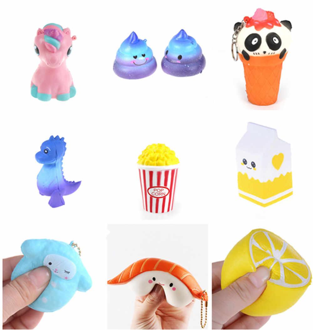 Jumbo сжимаемые игрушки для детей, медленно растущая антистрессовая игрушка для кошек, гамбургеров, фри, игрушки для снятия стресса, забавные детские подарочные игрушки
