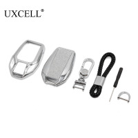 UXCELL Silver Tone Key Shell Remote Key Cover Case Set for BMW 7 Series|Key Shell| |  -
