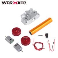 ARBEITER Geändert Teile Set Spielzeug Zubehör für Nerf STF/CS-18 (Power Typ)-Rot + Silber