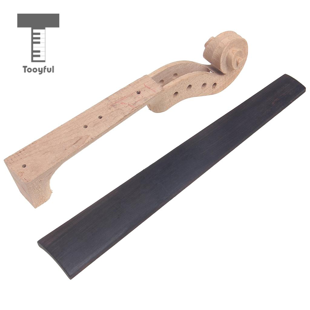 Violin Parts & Accessories Honey Tooyful Maple Violin Neck With Ebony Fingerboard For 4/4 Full Size Violin Diy Parts
