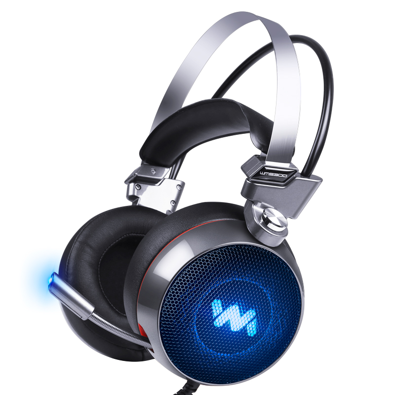 FBUANG 9300 Gaming Headset Stereo Surround Headband Headphones with Microphone LED Light For PC Gamer xiberia k9 usb surround stereo gaming headphone with microphone mic pc gamer led breath light headband game headset for lol cf