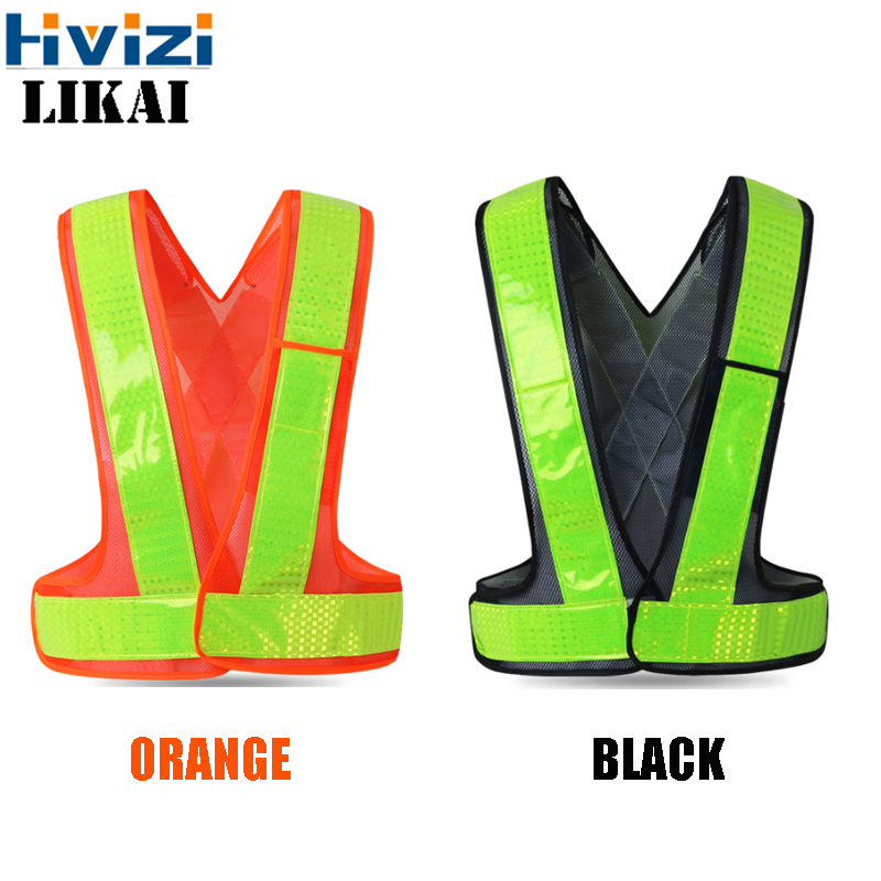 Road Traffic Reflective Mesh Work Vest High Quality Reflective PVC Tape Safety Clothing LOGO PRINT